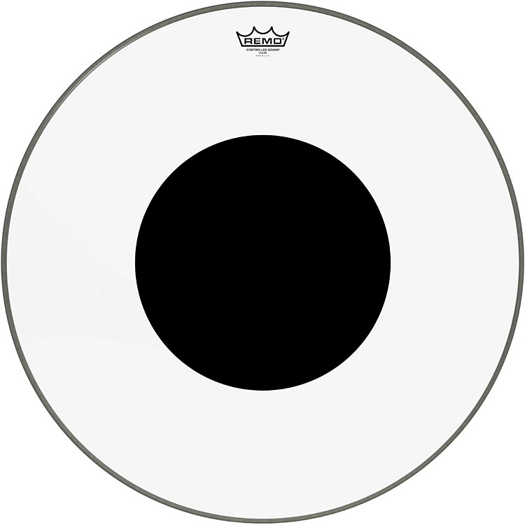 Remo Controlled Sound Clear with Black Dot Bass Drum  26 Inches