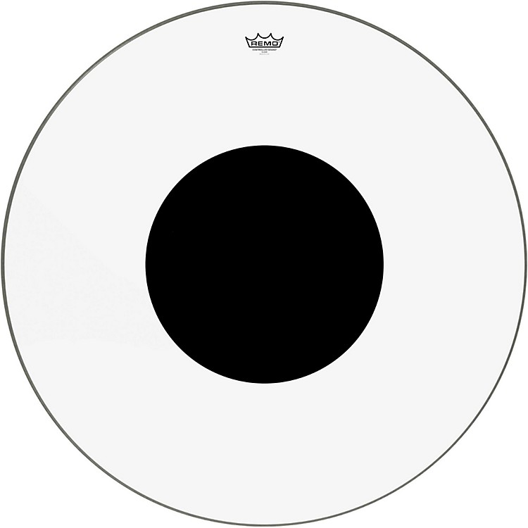Remo Controlled Sound Clear with Black Dot Bass Drum  32 inches