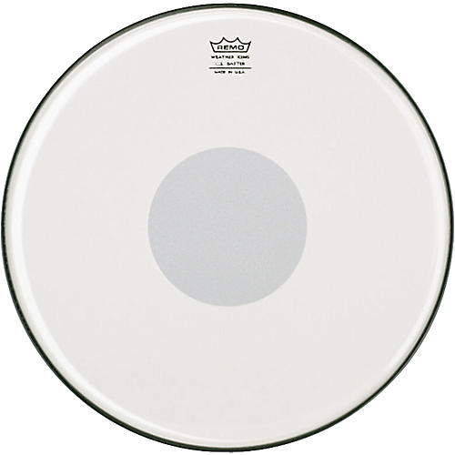 Remo Controlled Sound Smooth White with Clear Dot Batter