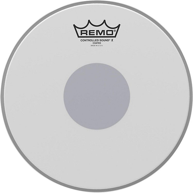 Remo Controlled Sound X with Black Dot On Bottom 10 inch Coated