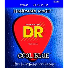 DR Strings Cool Blue Coated 4-String Bass Medium (45-105)