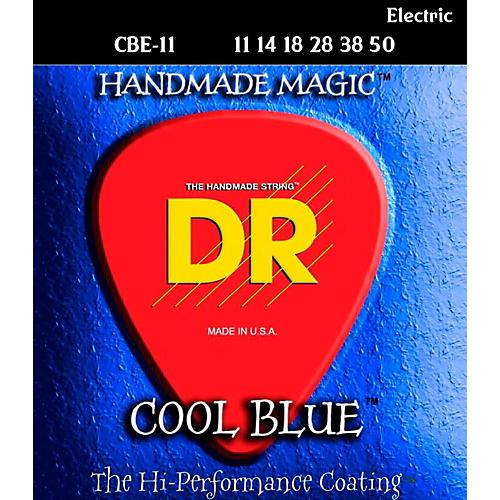 DR Strings Cool Blue Coated Electric Strings Extra Heavy (11-50)