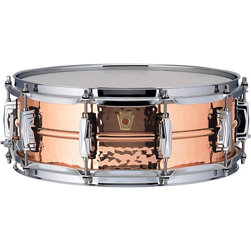 Ludwig Copper Phonic Hammered Snare Drum 14 x 5 in. Copper Finish with Imperial Lugs