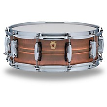 Ludwig Copper Phonic Smooth Snare Drum 14 x 5 in. Raw Smooth Finish with Imperial Lugs