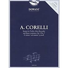 Dowani Editions Corelli: Sonata for Treble (Alto) Recorder & Basso Continuo Op. 5, No. 7 G Minor Dowani Book/CD