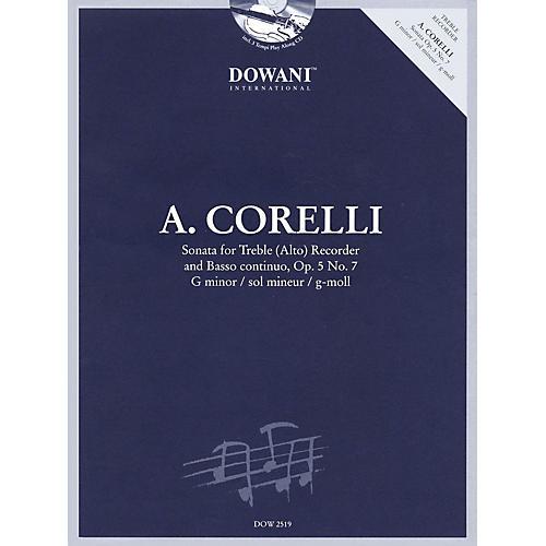 Dowani Editions Corelli: Sonata for Treble (Alto) Recorder & Basso Continuo Op. 5, No. 7 G Minor Dowani Book/CD-thumbnail