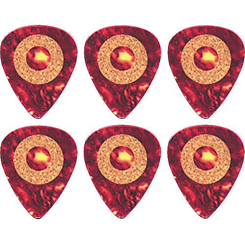Clayton Cork Grip Standard Guitar Pick 6 Pack .38 mm