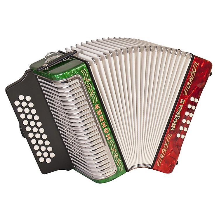 Hohner Corona II 3500 ADG Accordion Pearl Red Red