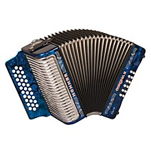 "Hohner Corona II Classic, Key of ""GCF"" Diatonic ACC Accordion Level 1 Dark Blue"