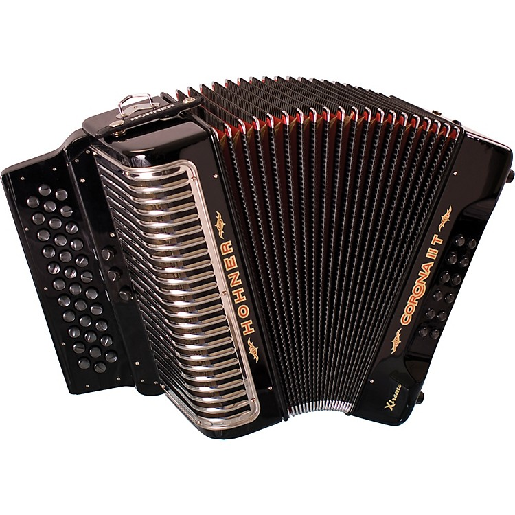 Hohner Corona II T Xtreme ADG Accordion Black