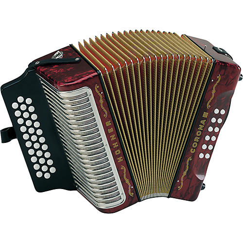 Hohner Corona III BbEbAb Accordion Pearl White
