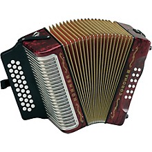 Hohner Corona III GCF Accordion Level 1 Pearl Red