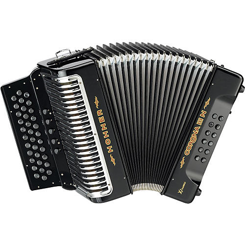 Hohner Corona IIIN Xtreme FBbEb Accordion Black