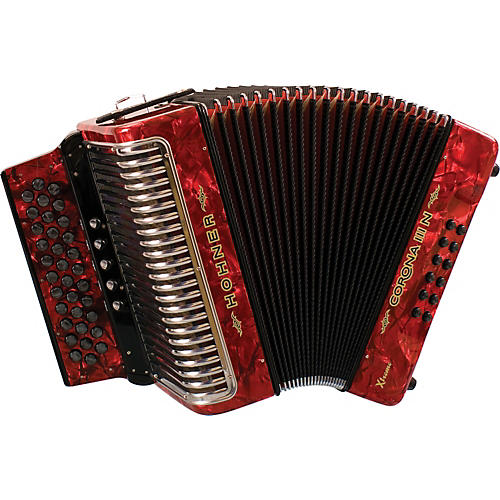 Hohner Corona IIIN Xtreme FBbEb Accordion Pearl Red