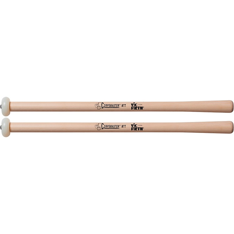 Vic Firth Corpmaster Multi-Tenor Mallets Tapered Hickory Shaft  Extra Hard