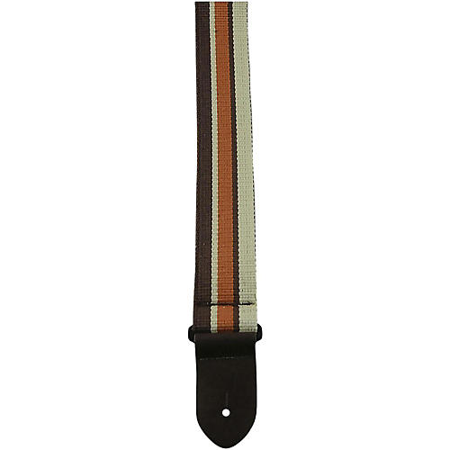 Perri's Cotton Brown Stripped Guitar Strap