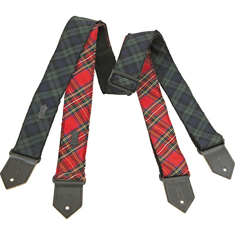 Levy's Cotton Plaid Guitar Strap Red