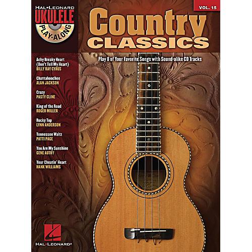 Hal Leonard Country Classics Ukulele Play-Along Volume 15 Book/CD