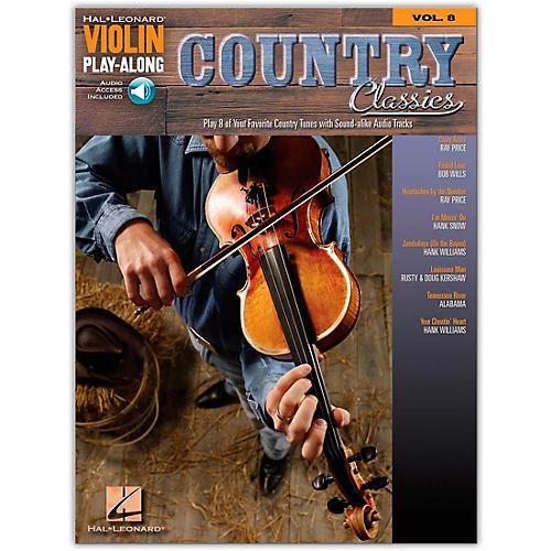 Hal Leonard Country Classics Violin Play-Along Volume 8 Book/Online Audio