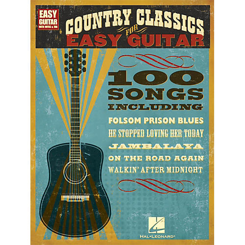 hal leonard country classics for easy guitar with tab musician 39 s friend. Black Bedroom Furniture Sets. Home Design Ideas