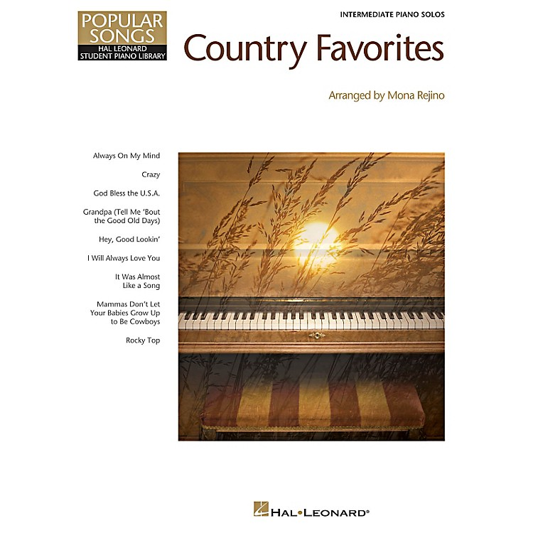 Hal LeonardCountry Favorites - Hal Leonard Student Piano Library Popular Songs Series for Intermediate Level Piano
