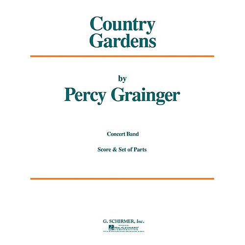G. Schirmer Country Gardens (Score and Parts) Concert Band Level 4-5 Composed by Percy Grainger-thumbnail