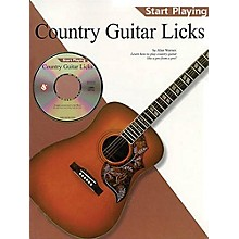 Music Sales Country Guitar Licks (Start Playing Series) Music Sales America Series Softcover with CD by Alan Warner