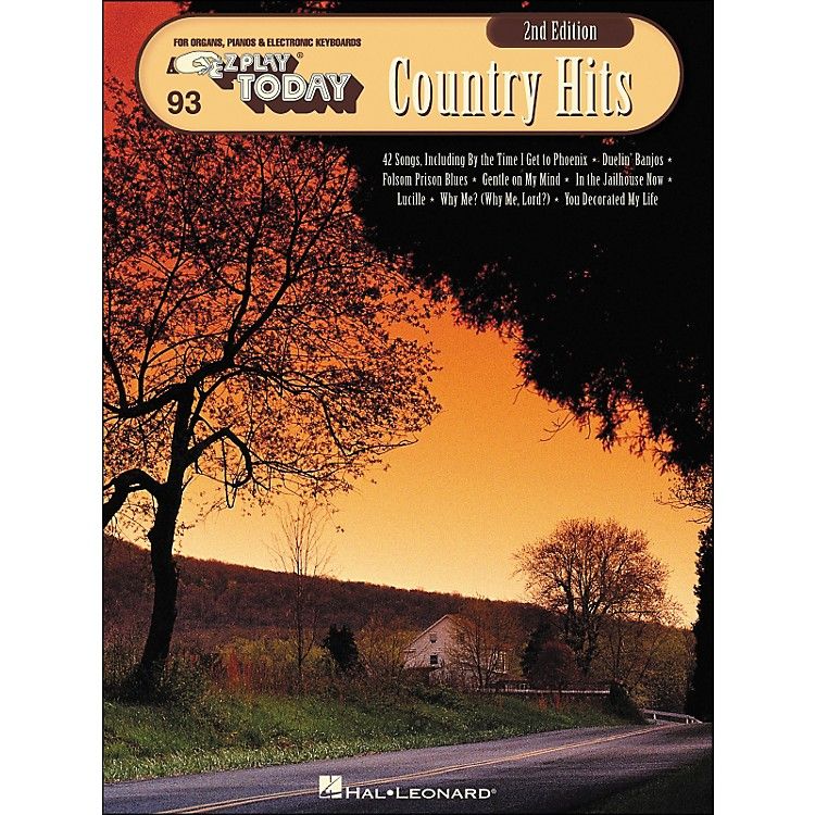 Hal LeonardCountry Hits 2nd Edition E-Z Play 93