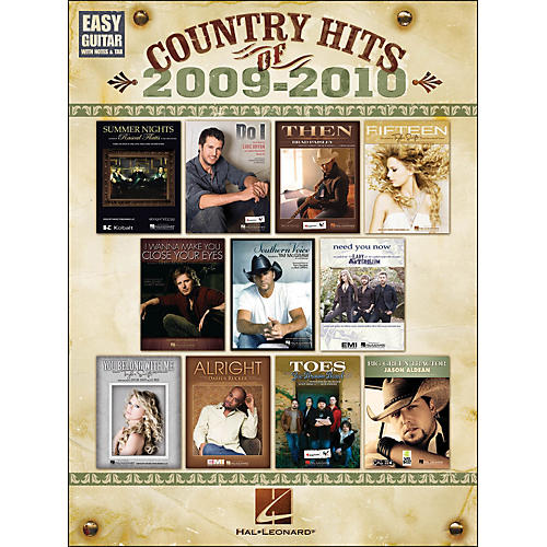 Hal Leonard Country Hits Of 2009 - 2010 Easy Guitar with Tab