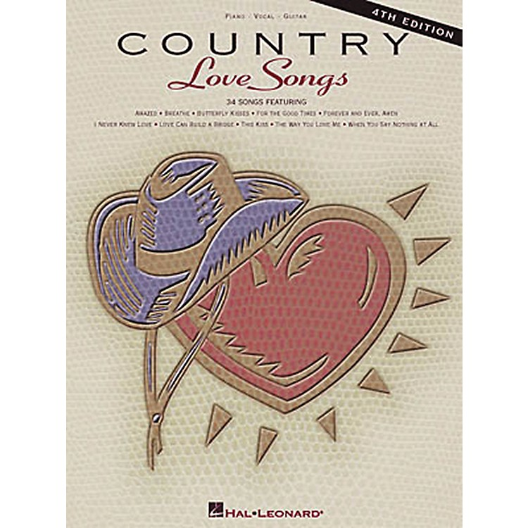 Hal LeonardCountry Love Songs - 4th Edition Piano, Vocal, Guitar Songbook