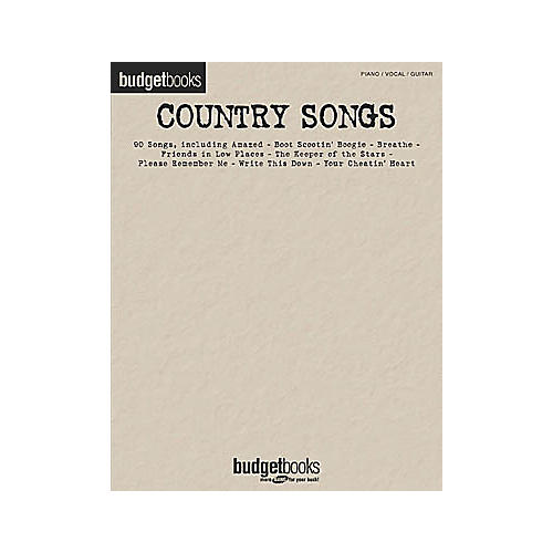 Hal Leonard Country Songs Budget Books Songbook