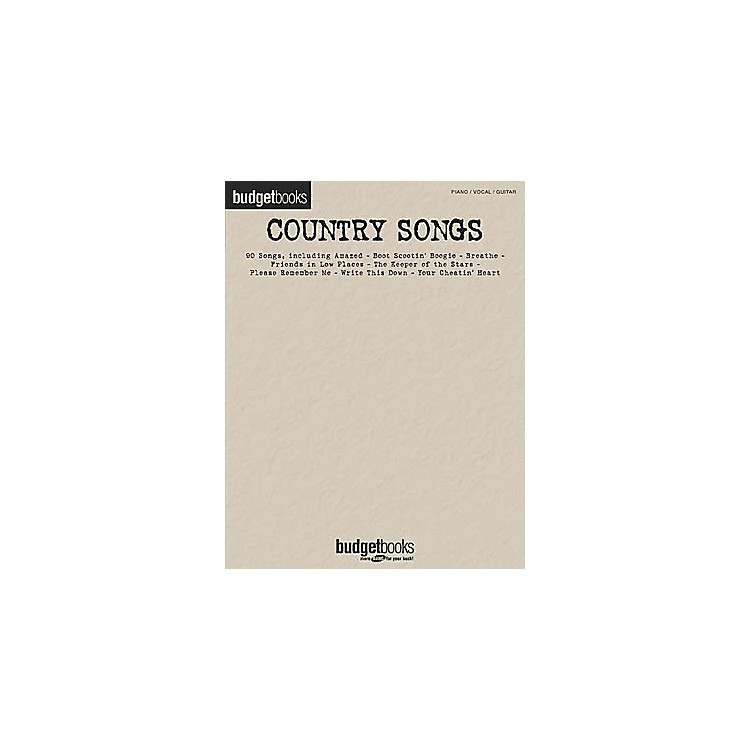 Hal LeonardCountry Songs Budget Books Songbook