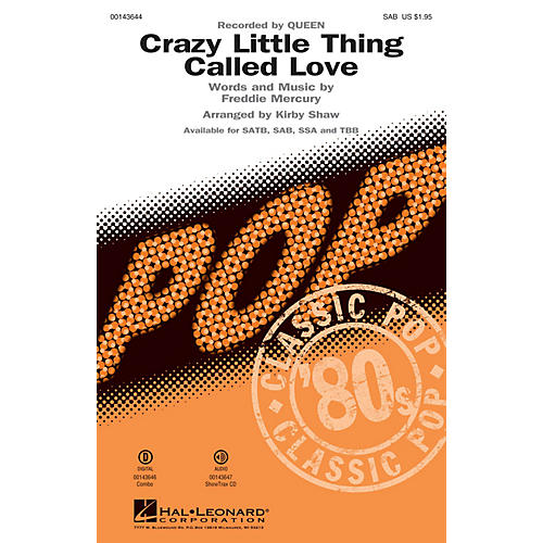 Hal Leonard Crazy Little Thing Called Love SAB by Queen arranged by Kirby Shaw-thumbnail
