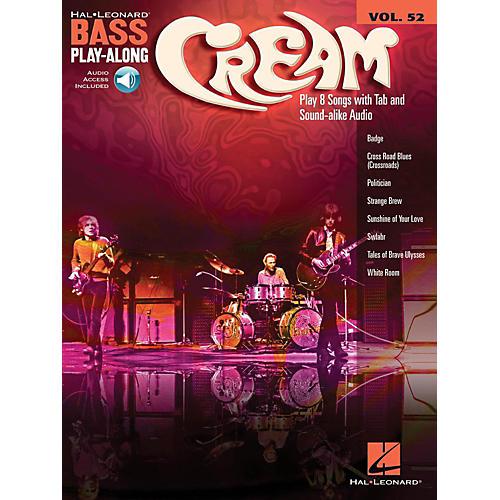 Hal Leonard Cream - Bass Play-Along Volume 52 (Book/Audio Online)-thumbnail