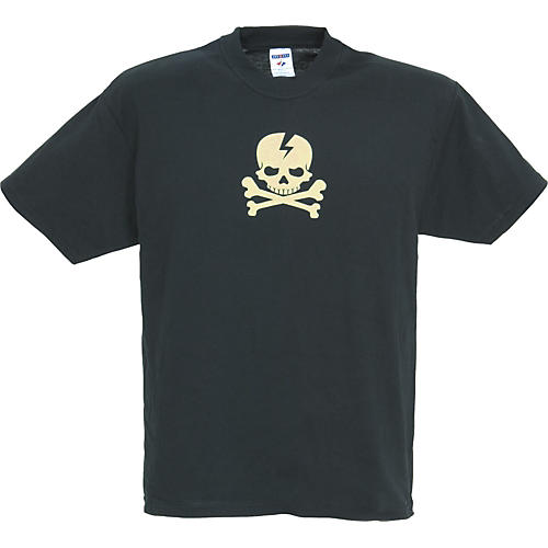 Gear One Cream Skull 'n' Bones T-Shirt Black Large
