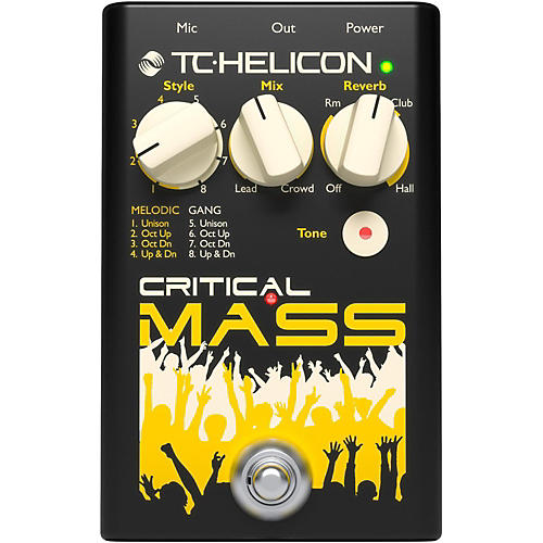TC Helicon Critical Mass Vocal Effects Pedal