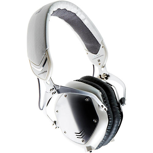 V-MODA Crossfade M-100 Over-Ear Noise-Isolating Metal Headphone White Silver