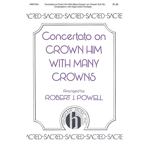 Hinshaw Music Crown Him with Many Crowns SATB arranged by Robert Powell-thumbnail
