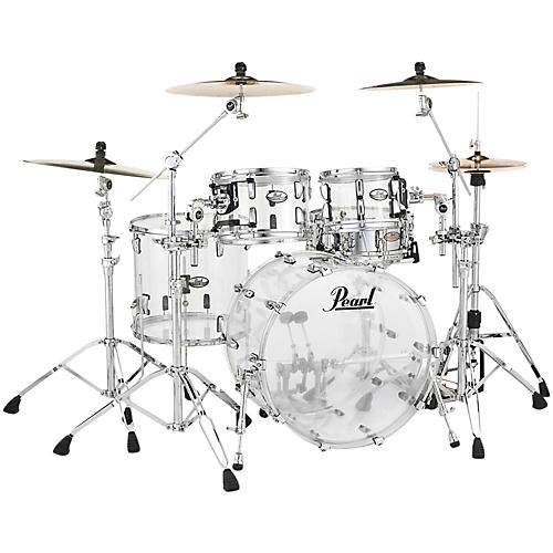 Pearl Crystal Beat 4-Piece New Fusion Shell Pack Ultra Clear