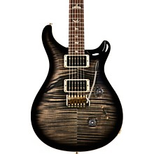 Custom 24 Carved Figured Maple 10 Top with Gen 3 Tremolo Solid Body Electric Guitar Charcoal Burst