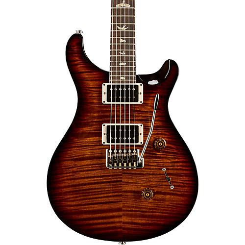 PRS Custom 24 Carved Flame Maple 10 Top with Nickel Hardware Solidbody Electric Guitar Black Gold Wrap Burst
