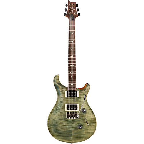 PRS Custom 24 Carved Flame Maple 10 Top with Nickel Hardware Solidbody Electric Guitar Trampas Green