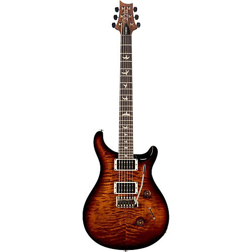 PRS Custom 24 Carved Flame Maple Top with Nickel Hardware Electric Guitar Black Gold Wrap Burst