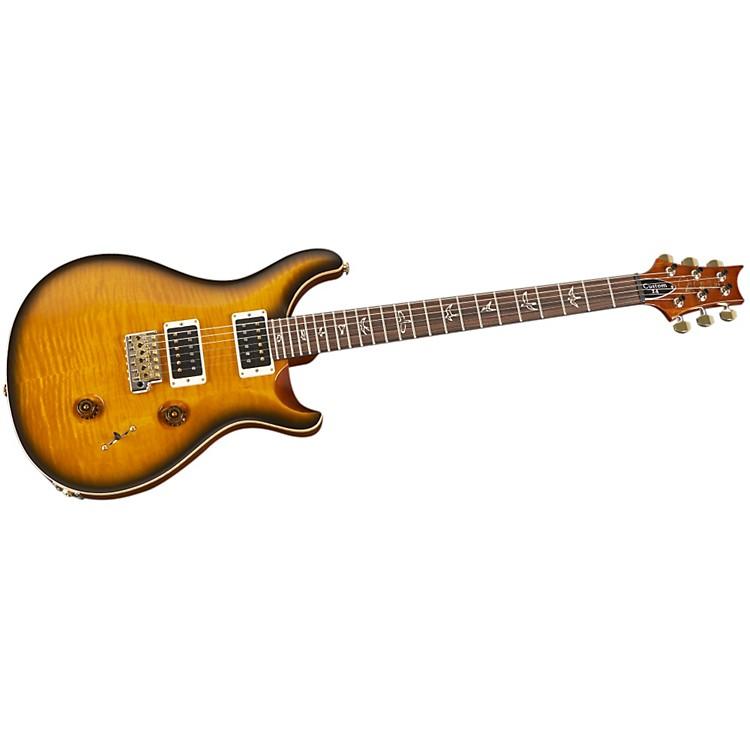PRSCustom 24 Flame Top Electric GuitarAmber BlackHybrid Hardware