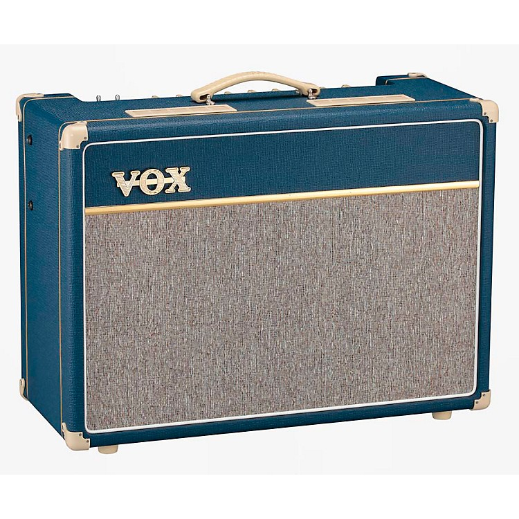 VoxCustom AC15C2-BL 15W 1x12 Limited Edition Blue Tube Guitar Combo Amp