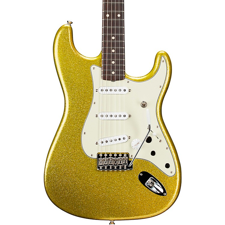 Fender Custom Shop Custom Artist Series Dick Dale Signature Stratocaster Electric Guitar Chartreuse Sparkle