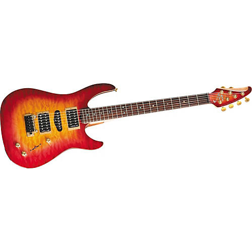 Brian Moore Guitars Custom C90P.USB Quilt Top Electric Guitar-thumbnail
