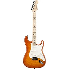Custom Deluxe Stratocaster Electric Guitar with Maple Fingerboard Honey Burst Maple