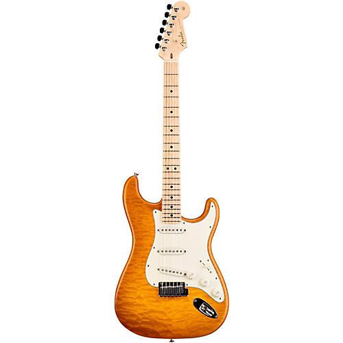 Fender Custom Shop Custom Deluxe Stratocaster Electric Guitar with Maple Fingerboard Honey Burst Maple