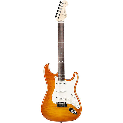 Fender Custom Shop Custom Deluxe Stratocaster Electric Guitar with Rosewood Fingerboard Honey Burst Rosewood